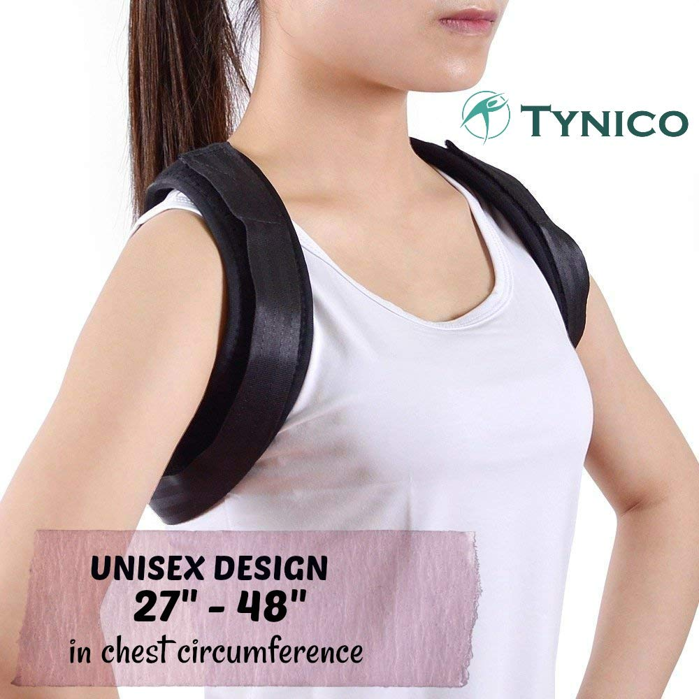 TYNICO Posture Corrector for Women Men - Clavicle Support Brace - Upper Back Pain Relief - Effective and Comfortable Adjustable Posture Correct Brace - Posture Brace - Back Brace Posture Support 2018
