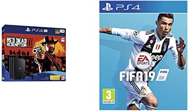 PlayStation 4 Pro (PS4) - Consola de 1 TB + Red Dead Redemption II + FIFA 19 Edición Estándar: Amazon.es: Videojuegos