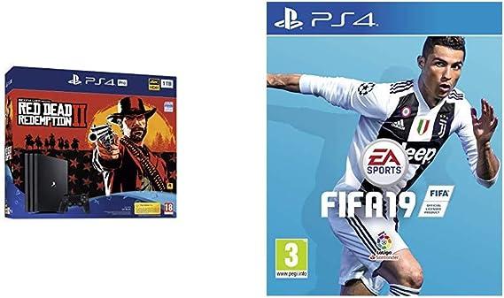 PlayStation 4 Pro (PS4) - Consola de 1 TB + Red Dead Redemption II + FIFA 19 Edición Estándar: Amazon.es: Videojuegos