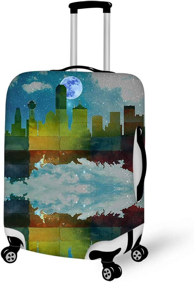 Dallas City Skylines 18-21 inch Travel Luggage Cover Spandex Suitcase Protector Washable Baggage Covers
