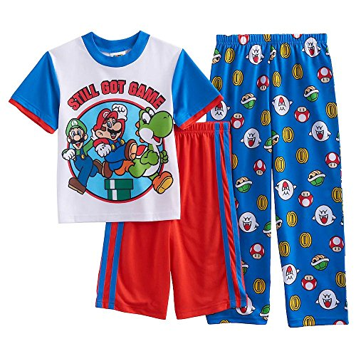 Super Mario, Luigi and Yoshi Still Got Game Size 10 3-Piece Pajama Set