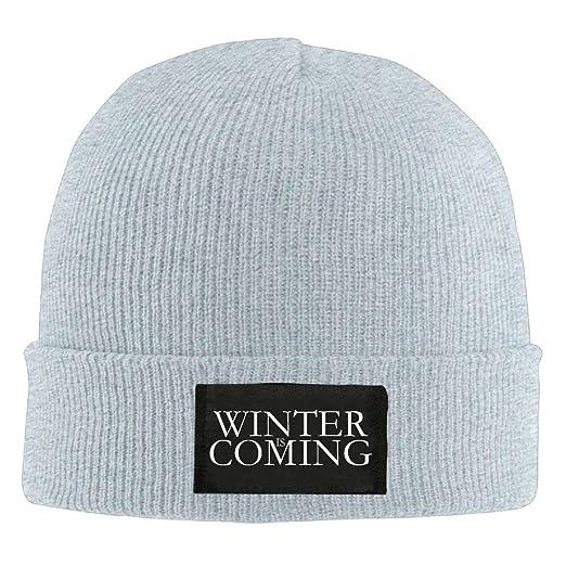 a4120ab003e Amazon.com  LXXYZ b Adult Hats Winter is Coming Men Women Wool Cap Cartoon Beanies  Knitted Caps Warm Winter Hats  Clothing