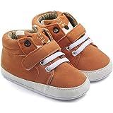 57f5d882bcf31 Nagodu Shoes Zapato para Bebe niño Cafe con Cintas Blancas y Velcro para  Mejor Ajuste