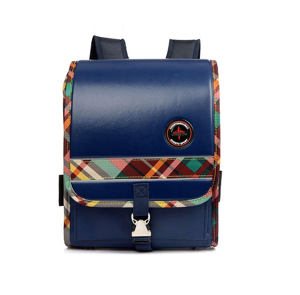 Le sac imperméable d'école de sac à dos d'enfants de cuir d'unité centrale imperméable pour le sac de livre de filles/garçons (black)