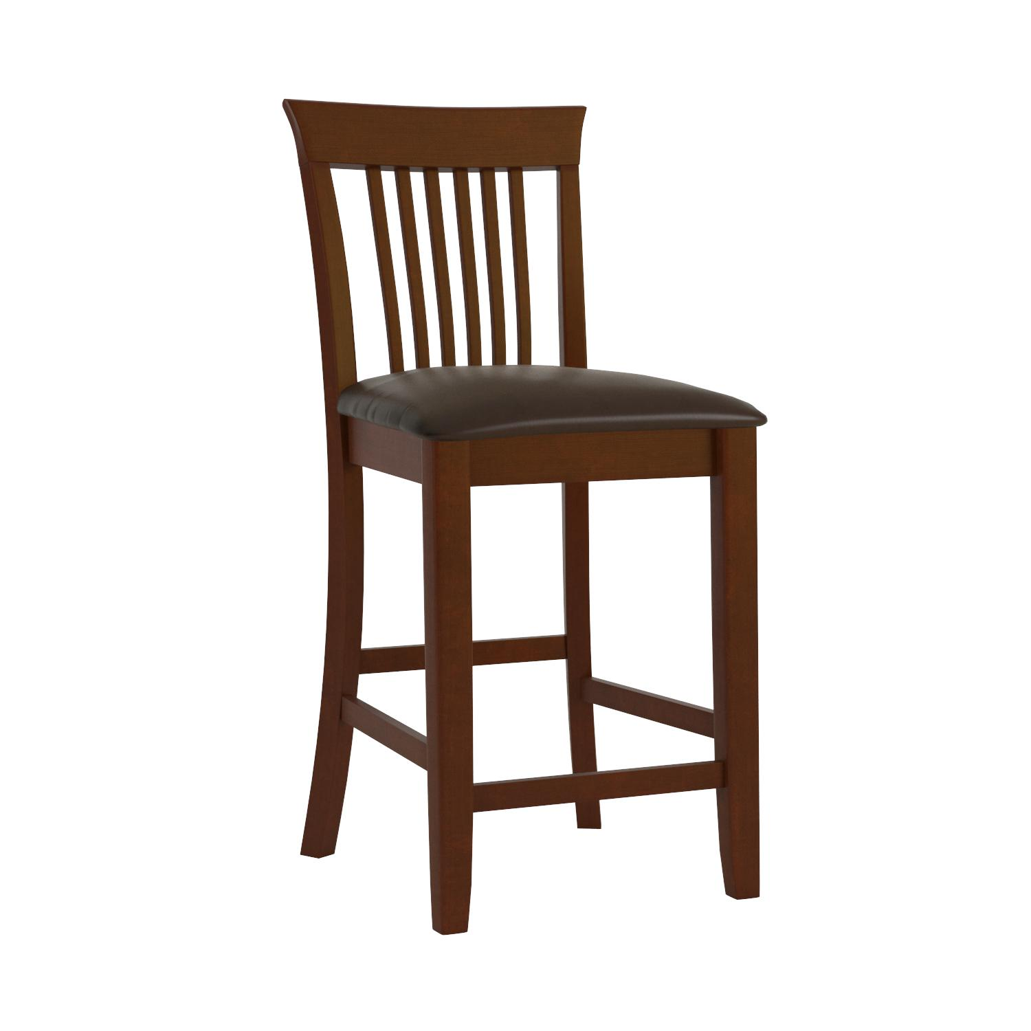 Amazoncom Linon Triena Dark Cherry 24 Inch Counter Stool Kitchen