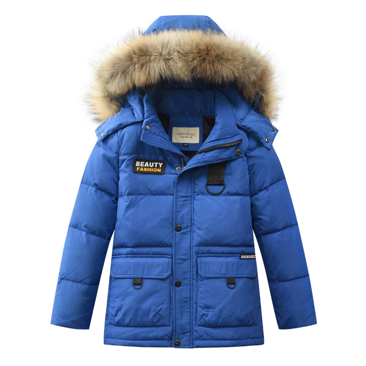 LISUEYNE Boys Kids Winter Hooded Down Coat Puffer Jacket Big Boys Mid-Long LC137MY