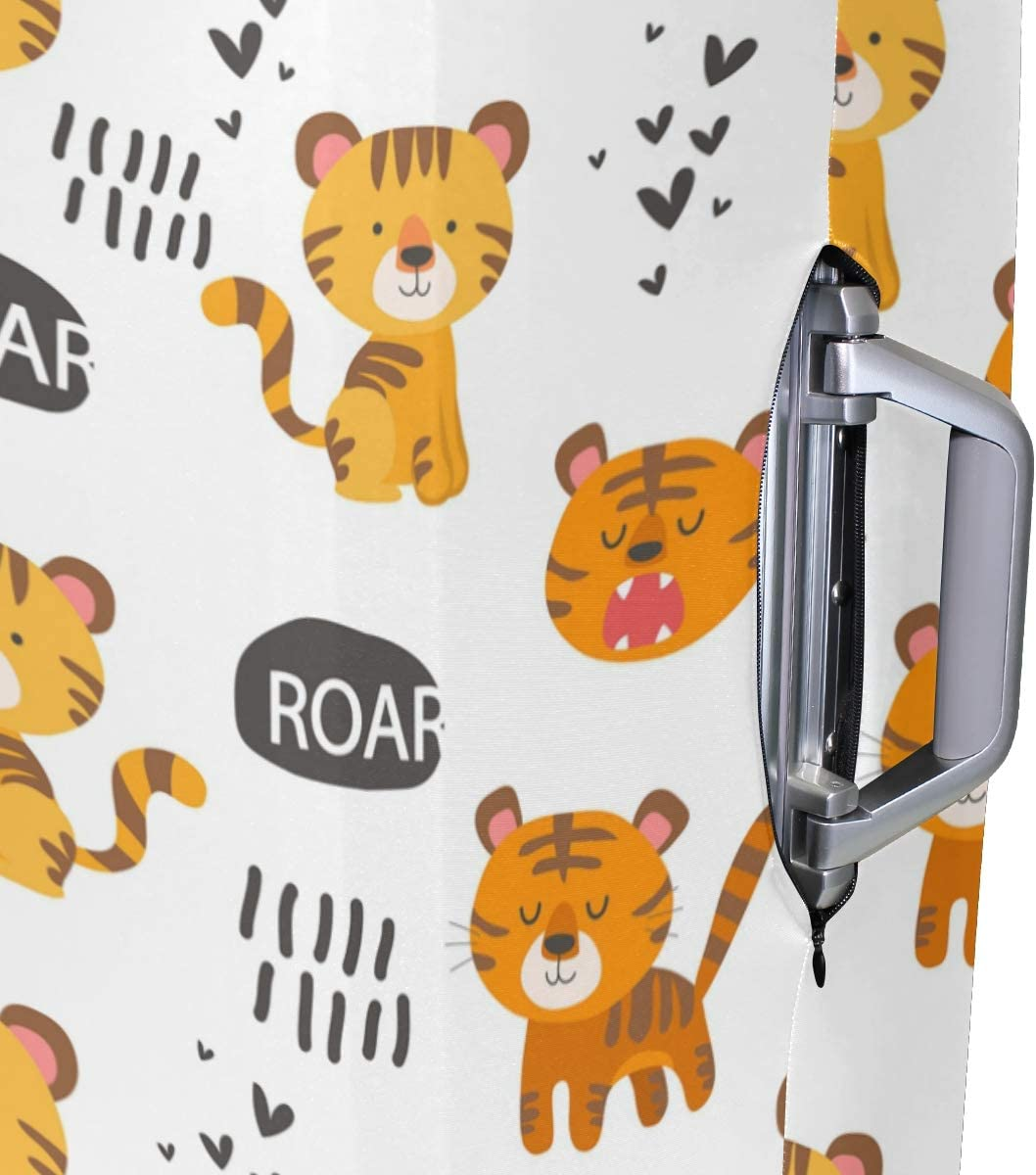 FOLPPLY Cartoon Tiger Pattern Luggage Cover Baggage Suitcase Travel Protector Fit for 18-32 Inch