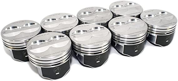 Speed Pro H345DCP 350 Small Block Chevy SBC Flat Top Pistons Coated Piston 5.7 .080 or 4.080 Bore