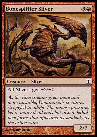 Magic: the Gathering - Bonesplitter Sliver - Time Spiral ()