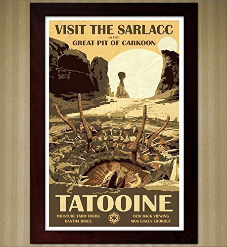 Star Wars - Tatooine Travel Poster - Visit the Sarlacc