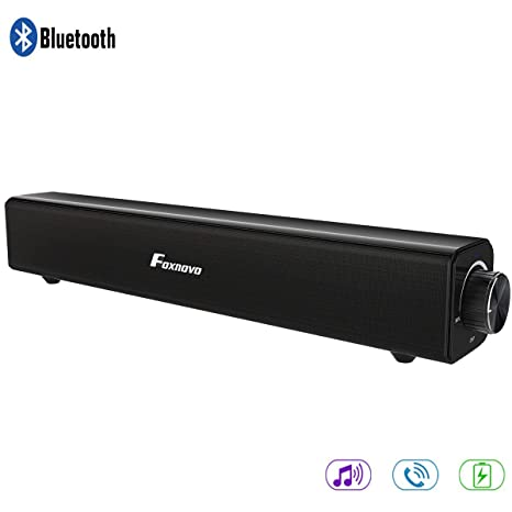 Amazon.com: Barra de sonido Foxnovo TV de 20 W con cable e ...