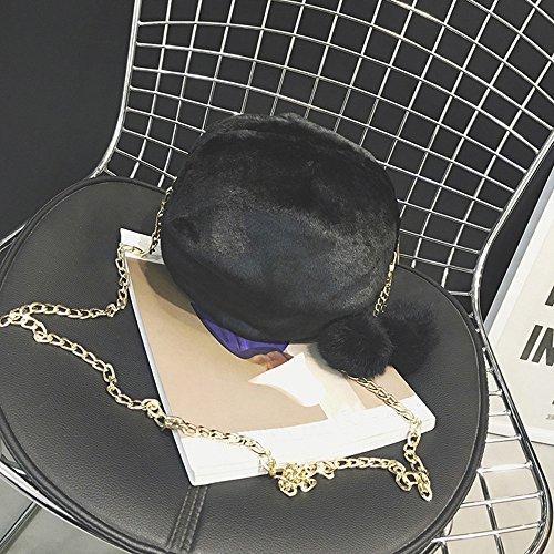 école Sport WINJIN Main Noir Shopping Voyage pour Main à Sac et en fête Élégant Loisirs bandoulière Mode Sac Femme Hiver à et Bonbon Couleur Automne Sac Femme a Peluche fYRYwtqxB