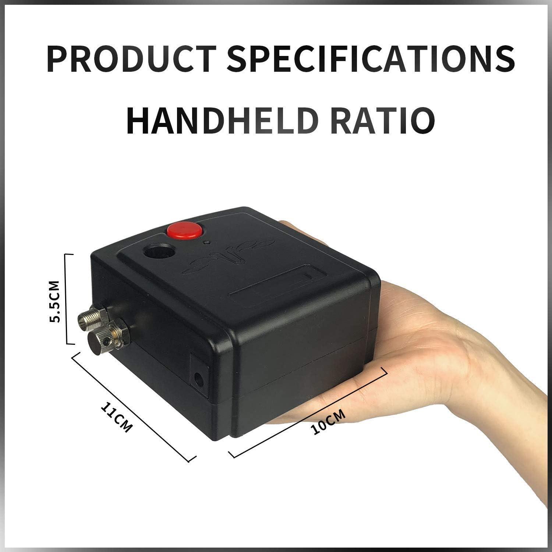 mit 0.3mm Nadel 7Cc Tasse Luftkompressor f/ür Kunstmalerei Kuchen Handwerk Make-Up Haustierpflege BOBLOV Dual Action Airbrush Pistole