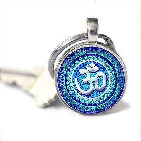 Llavero de Om para yoga, símbolo de om, budismo, llavero Zen ...