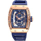 Men 's Skulls Retro Hollow Luminous Waterproof Quartz Watch Blue