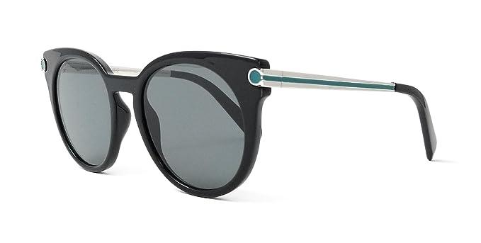 deb4fc6dad Image Unavailable. Image not available for. Color  Salvatore Ferragamo  Sunglasses SF831S 976 Black-Silver ...