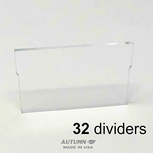 Large Drawer, Old Style 4 Section Divider for Akro-Mils 20702 Large Drawer ChinRestPaperSource Dividers for Plastic Storage Hardware Cabinet with Large Drawers Pack of 6 Sets