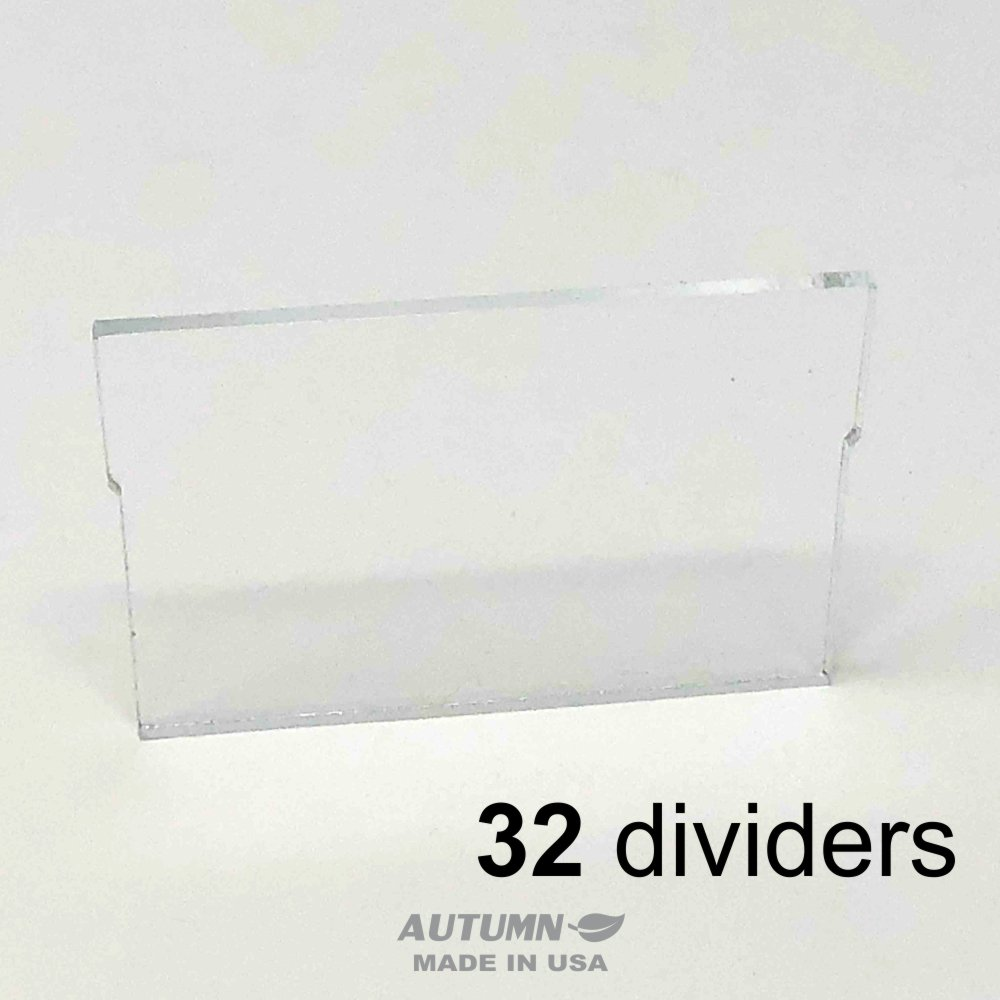 ChinRestPaperSource Dividers for Plastic Storage Hardware Cabinet with Small Drawers, Designed to fit Akro-Mils 40716, Pack of 32 (Small Drawer)