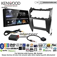 Volunteer Audio Kenwood DDX9904S Double Din Radio Install Kit with Apple CarPlay Android Auto Bluetooth Fits 2012-2013 Toyota Camry with Amplified System