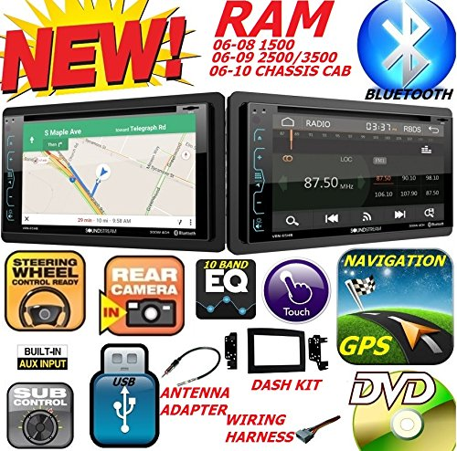 2006-2010 DODGE RAM Double Din DVD CD GPS Navigation Bluetooth Radio Stereo