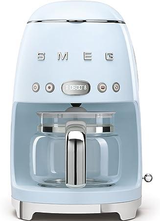 Smeg Cafetera de Goteo DCF01PBEU semiatumatica, Filtro Permanente, 1050 W, 1.4 litros, plástico, Azul: Amazon.es: Hogar