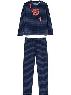 88bacdf91b0 VERTBAUDET Lote de 2 Pijamas de Dos Tejidos Verde Oscuro Liso con ...