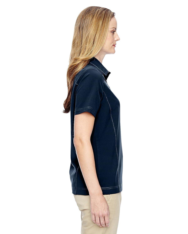 North End 75120 Excursion Crosscheck Woven Polo Shirt