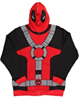 Mens Deadpool Hoodie Marvel Comics Red