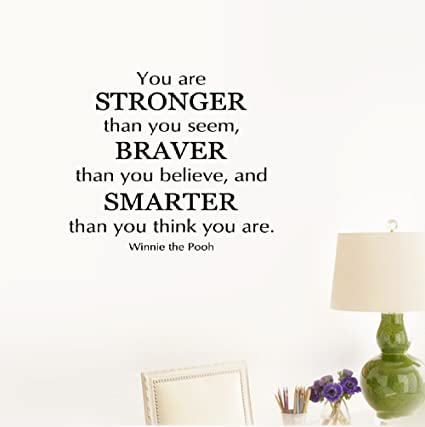 Amazoncom Wall Sticker Quote You Are Stronger Than You Seem
