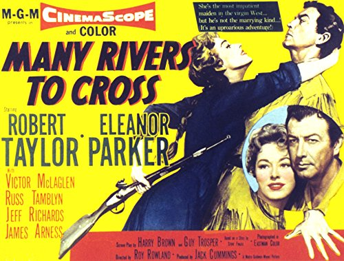 Posterazzi Many Rivers to Cross Eleanor Parker Robert Taylor 1955 Movie Masterprint Poster Print (14 x - Cross Rivers To Taylor Robert Many