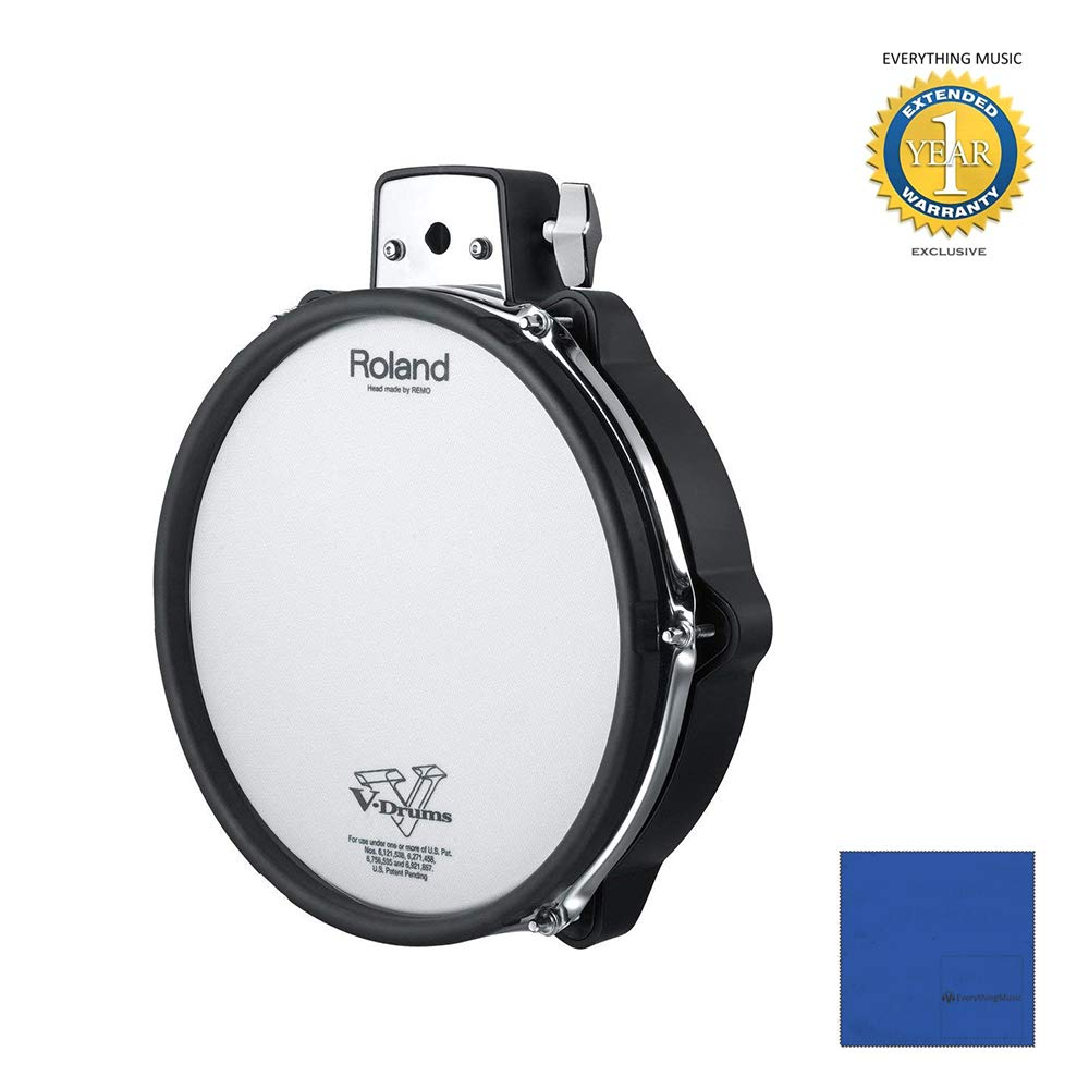 Roland PDX-100 V-Pad 10'' Mesh-head Drum Pad with Microfiber and 1 Year Everything Music Extended Warranty by Roland