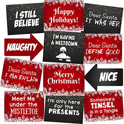 Christmas Photo Booth Props Accessories Kit Party Signs