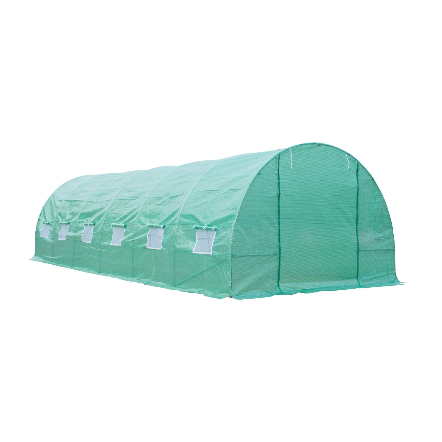 Outsunny 26' x 10' x 7' Portable Walk-in Garden Greenhouse - Deep Green by Outsunny (Image #4)