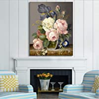 XQWZM Flowers Paint By Number Kit per Adulti, Fai-da-Te Dipingendo con I Numeri, Home Decor Pittura Ad Olio Quadro su Tela, Pittura Acrilica 40X50Cm Frameless C