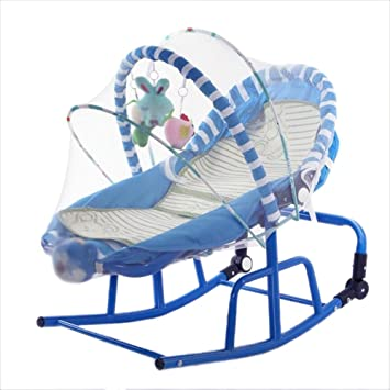 Amazon.com : NMPA- Baby Soothing Rocking Chair Cradle ...