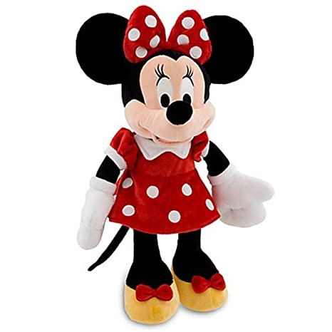 Amazon Com Disneys Minnie Mouse Plush Red Dress 19 H Toys Games