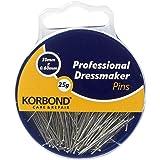 25 g de alfileres de cabeza plana Korbond para uso profesional