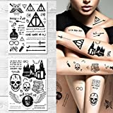 Supperb Temporary Tattoos - Let the Magic Begin Wizard Magic Deathly Hallows (Set of 2)