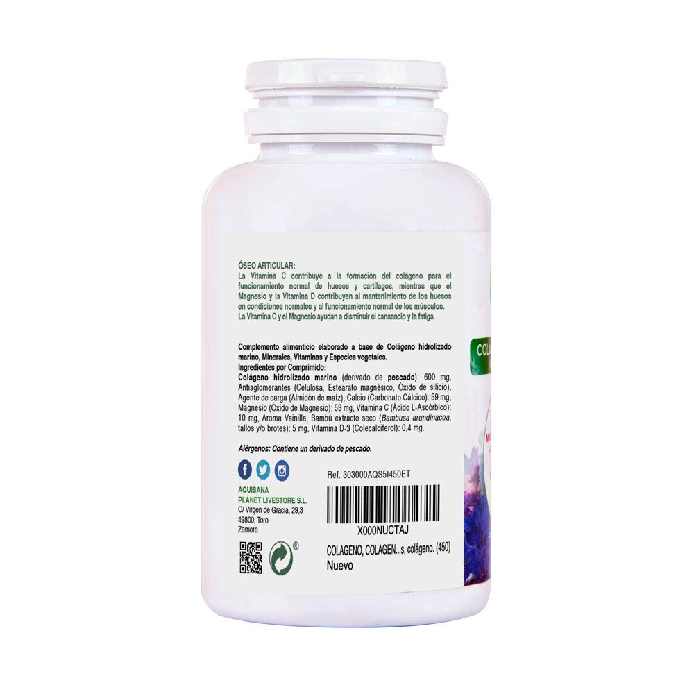 COLAGENO, COLAGENO MAGNESIO, 450 comprimidos, colageno hidrolizado y magnesio, calcio, sílice, vitamina C y D, colageno y magnesio, colageno propiedades ...