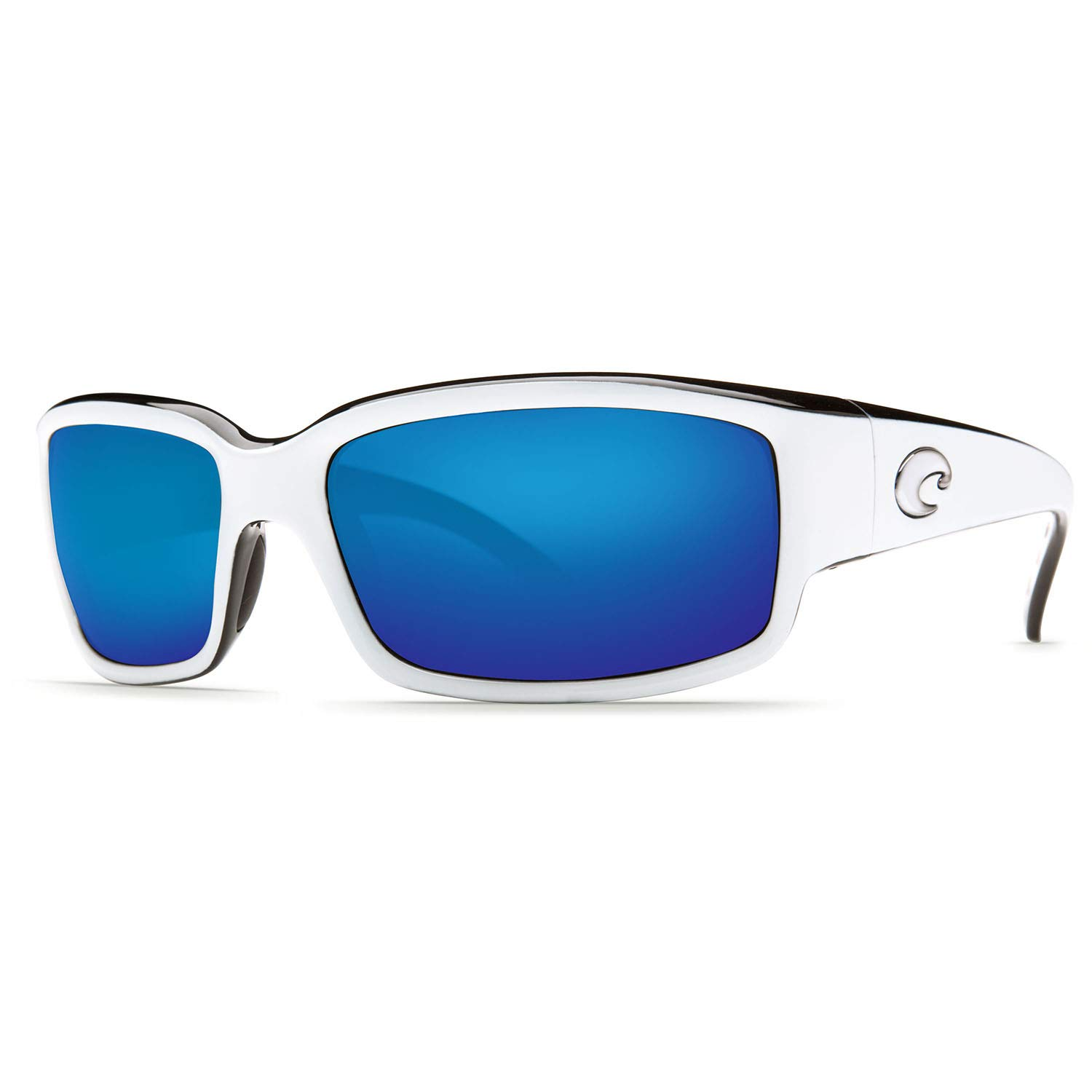 Costa Del Mar Sunglasses - Caballito- Glass / Frame: White and Black Lens: Polarized Blue Mirror Wave 580 Glass-CL30BMG580 by Costa Del Mar