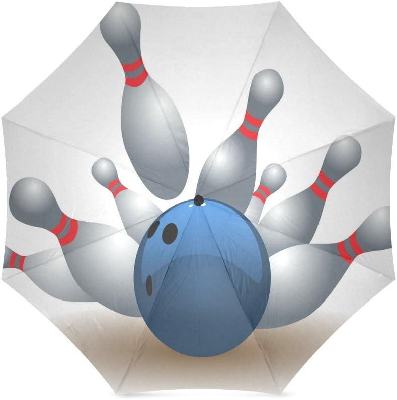 Custom The bowling ball Compact Travel Windproof Rainproof Foldable Umbrella