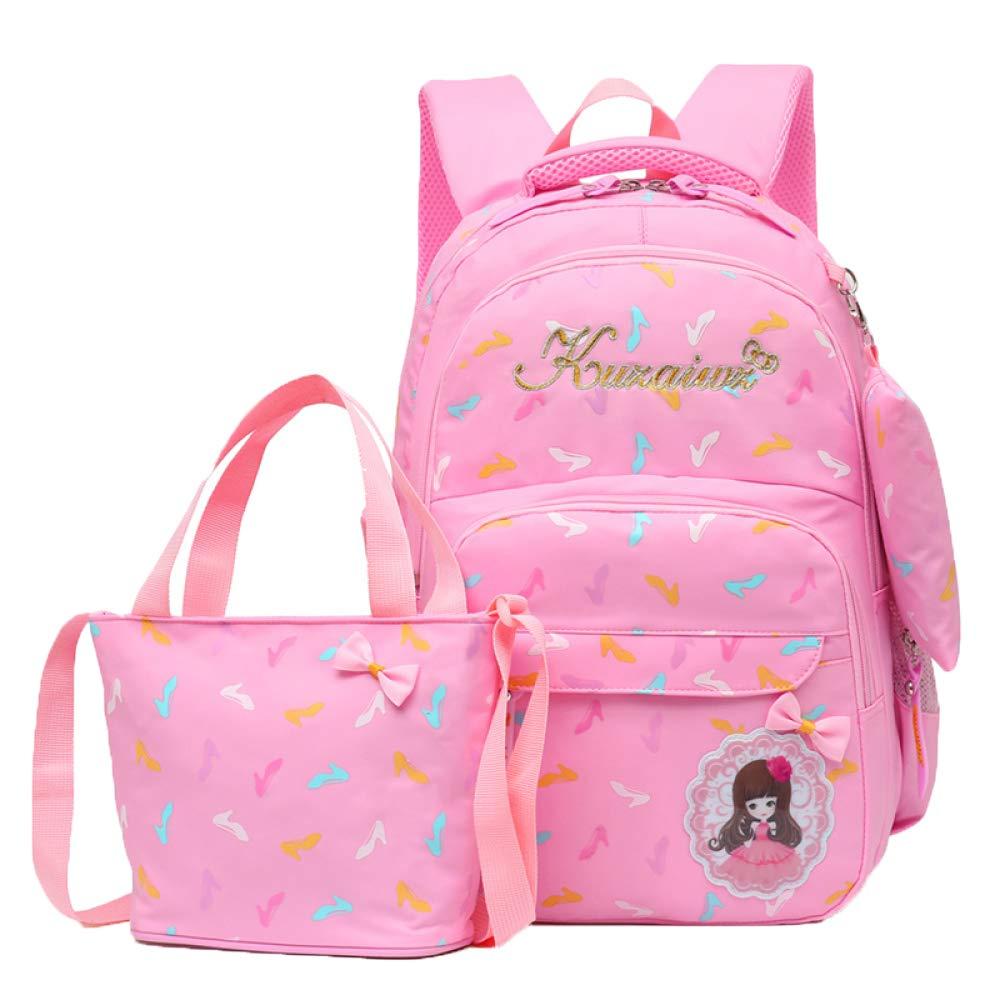 FLHT, Mädchen Schultasche Rucksack 6-12 Jahre Alten Reise Campus 2-6 Klasse Grundschüler Leichte Wasserdichte Rucksack