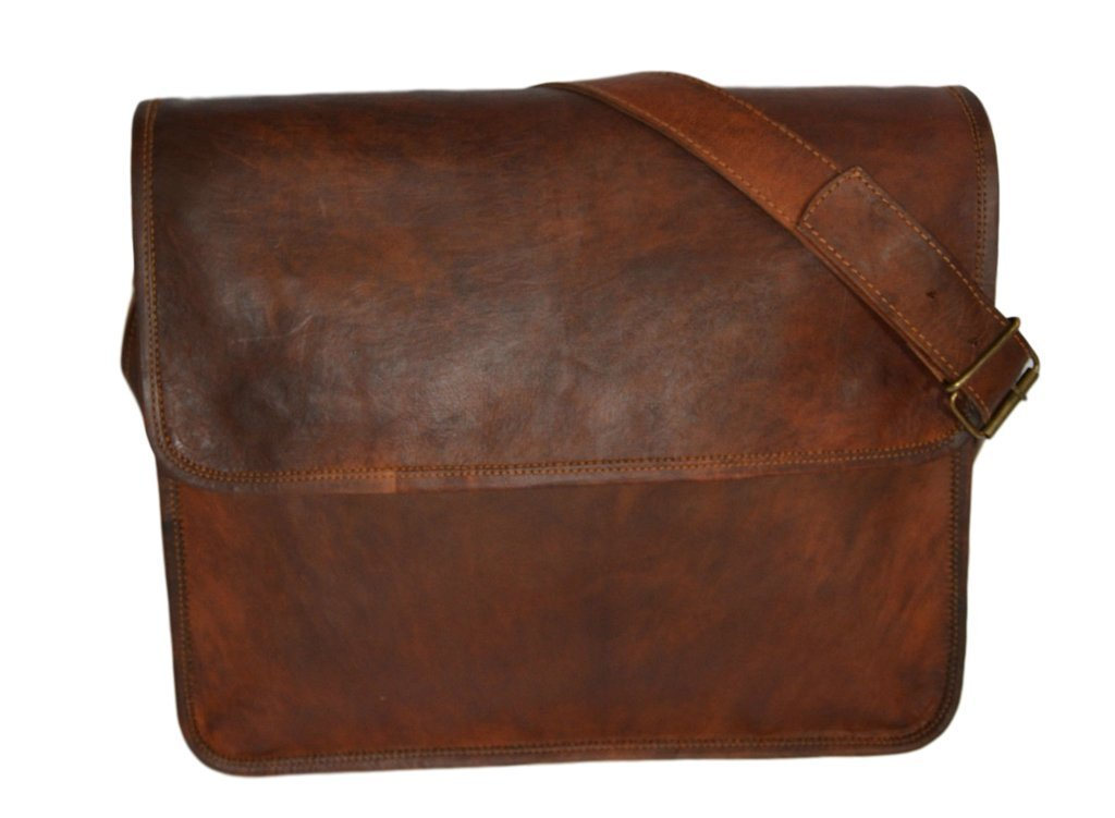 Messenger of Leather Small Leather Vintage Bag 13 Inch