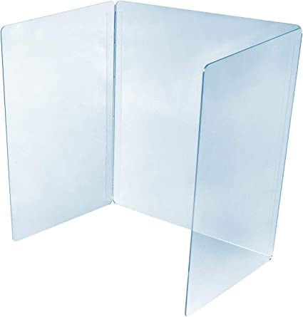 In stock desktop//counter Folded Sneeze Guard Screen Acrylic Perspex