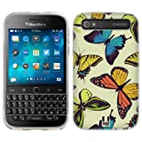 Head Case Designs Wild Butterfly Pattern Soft Gel Back Case Cover for BlackBerry Classic Q20