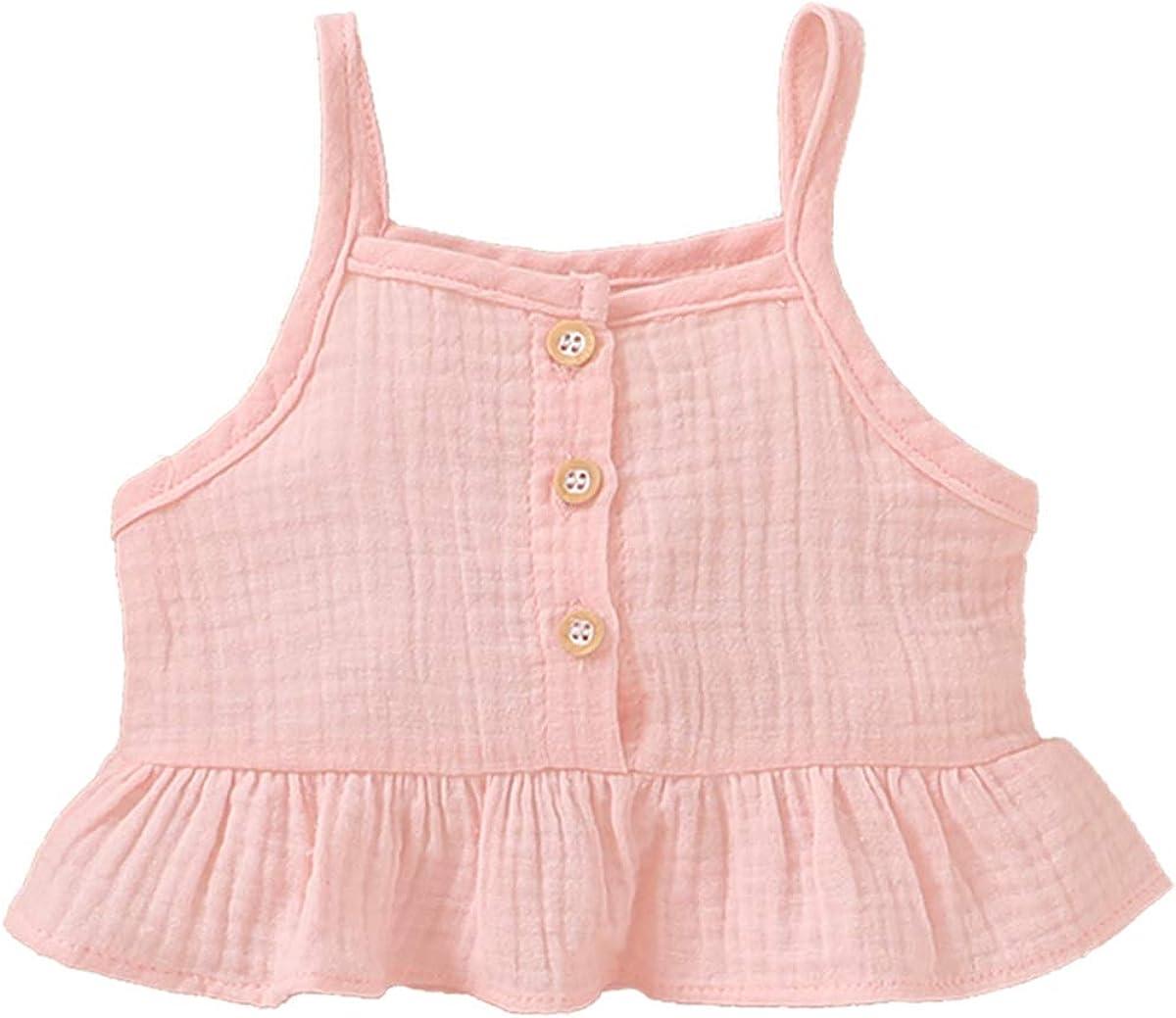 DaMohony Vestiti da Bambina con Canotta e Pantaloncini per Bambini da 0 a 18 Mesi