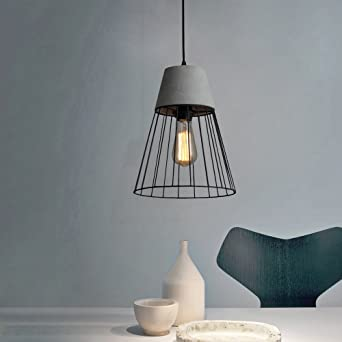 Cbjktx Hangeleuchte Esstisch Betonlampe Vintage Pendelleuchte