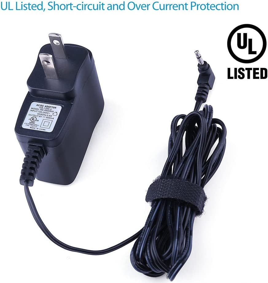 UL Listed Tough Buddy Extra Long 6.5 Ft Charger Power Cord PWR Heater Big Buddy Heater Mh18b F276127 F274800 PWR-TAA06008 Pwr 6 Volt AC Adapter for Mr