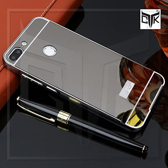 best service 1268a 369ad TheGiftKart Honor 9 Lite Electroplated Mirror Back Case With Metal Bumper  (Graphite Black)