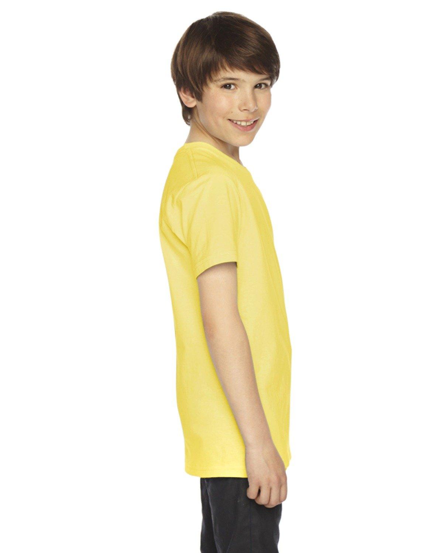 American Apparel Boys Fine Jersey Short-Sleeve T-Shirt (2201) -LEMON -10 by American Apparel (Image #3)